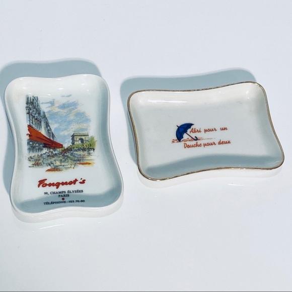 Limoges France Vintage Trinket Dish Set Of 2